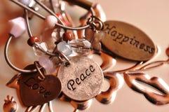 Ευτυχία ειρήνης αγάπης Στοκ Εικόνες