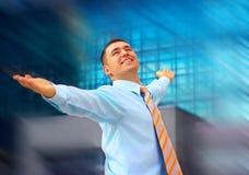 ευτυχία επιχειρηματιών Στοκ Εικόνα