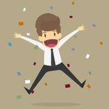 Ευτυχία επιχειρηματιών διανυσματική απεικόνιση