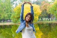Ευτυχία και φύση Στοκ φωτογραφία με δικαίωμα ελεύθερης χρήσης