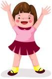 ευτυχία κοριτσιών ελεύθερη απεικόνιση δικαιώματος