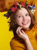 ευτυχία κοριτσιών Στοκ Φωτογραφίες
