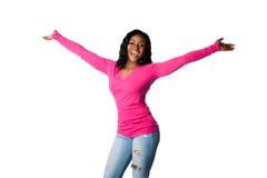 Ευτυχία με τις ανοικτές αγκάλες στοκ εικόνες με δικαίωμα ελεύθερης χρήσης