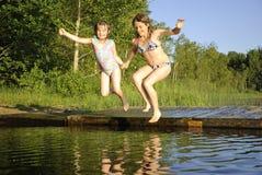 ευτυχείς άλτες Στοκ φωτογραφίες με δικαίωμα ελεύθερης χρήσης