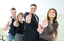 ευτυχείς άνθρωποι επιχειρηματικών μονάδων Στοκ Εικόνες