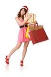ευτυχείς αγορές κοριτ&sig Στοκ Εικόνα