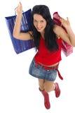 ευτυχείς αγορές κοριτ&sig Στοκ Εικόνες