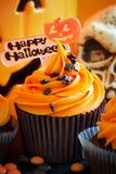 Ευτυχείς αποκριές cupcake Στοκ Εικόνα