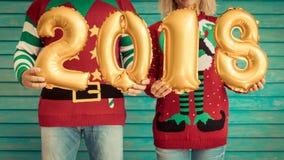 Ευτυχείς αριθμοί 2018 εκμετάλλευσης ζευγών Στοκ Εικόνες