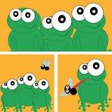 Ευτυχείς βάτραχοι διανυσματική απεικόνιση