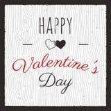 ευτυχείς βαλεντίνοι ημέρας καρτών Έμβλημα και υπόβαθρο γραφικής παράστασης αγάπης με τις καρδιές και το απόσπασμα κειμένων Αναδρο διανυσματική απεικόνιση