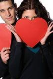 ευτυχείς βαλεντίνοι ημέ&rho Στοκ φωτογραφία με δικαίωμα ελεύθερης χρήσης