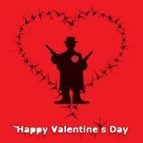 ευτυχείς βαλεντίνοι ημέ&rho Στοκ εικόνα με δικαίωμα ελεύθερης χρήσης