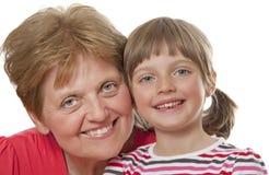 Ευτυχείς γιαγιά και εγγονή στοκ εικόνες