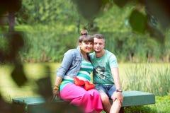 Ευτυχείς γονείς Στοκ φωτογραφία με δικαίωμα ελεύθερης χρήσης