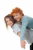 ευτυχείς δύο γυναίκες Στοκ φωτογραφία με δικαίωμα ελεύθερης χρήσης