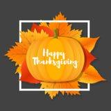 Ευτυχείς εορτασμοί ημέρας των ευχαριστιών με τις κολοκύθες ελεύθερη απεικόνιση δικαιώματος