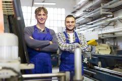 Ευτυχείς επαγγελματικοί εργαζόμενοι Στοκ Εικόνες