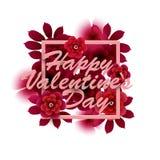 ευτυχείς καρδιές ημέρας καρτών που αγαπούν το βαλεντίνο του s δύο επίσης corel σύρετε το διάνυσμα απεικόνισης Στοκ Εικόνες
