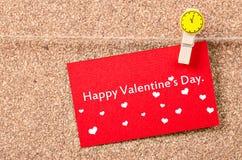 ευτυχείς καρδιές ημέρας καρτών που αγαπούν το βαλεντίνο του s δύο Στοκ Φωτογραφία