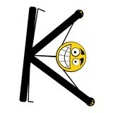ευτυχείς Κ επιστολές αλφάβητου Στοκ εικόνα με δικαίωμα ελεύθερης χρήσης