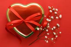 Ευτυχείς λουλούδια και καρδιές διακοπών ημέρας βαλεντίνων Στοκ Εικόνες