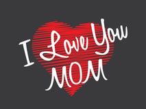 ευτυχείς μητέρες ημέρας σας αγαπώ mom απεικόνιση αποθεμάτων