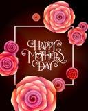 ευτυχείς μητέρες ημέρας Στοκ εικόνα με δικαίωμα ελεύθερης χρήσης