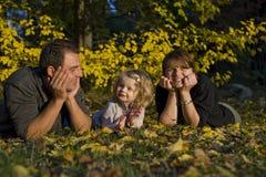 ευτυχείς μικροί πρόγονο&i Στοκ Εικόνα