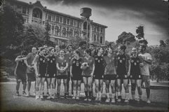 Ευτυχείς μνήμες Korfball Στοκ φωτογραφία με δικαίωμα ελεύθερης χρήσης