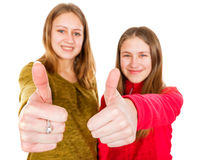 Ευτυχείς νέες αδελφές Στοκ Φωτογραφίες
