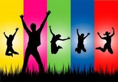 ευτυχείς νεολαίες ανθρώπων