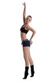 ευτυχείς νεολαίες γυναικών ικανότητας χορού υφασμάτων Στοκ Εικόνα