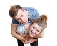 ευτυχείς νεολαίες ζε&up στοκ εικόνα