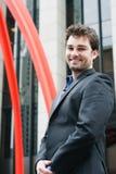 ευτυχείς νεολαίες πορτρέτου επιχειρηματιών Στοκ Φωτογραφία