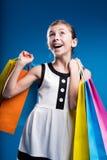 ευτυχείς νεολαίες αγοραστών Στοκ φωτογραφία με δικαίωμα ελεύθερης χρήσης
