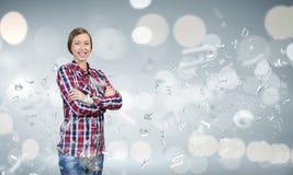 ευτυχείς νεολαίες γυ&n Στοκ εικόνες με δικαίωμα ελεύθερης χρήσης