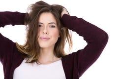 ευτυχείς νεολαίες brunette Στοκ φωτογραφία με δικαίωμα ελεύθερης χρήσης