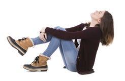 ευτυχείς νεολαίες brunette Στοκ Εικόνες