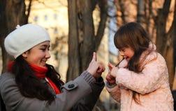 Ευτυχείς οικογενειακές στιγμές Στοκ Εικόνες