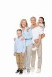 Ευτυχείς παππούδες και γιαγιάδες με τα εγγόνια Στοκ Εικόνες