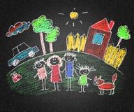 Ευτυχείς πρόγονοι και παιδιά Στοκ εικόνες με δικαίωμα ελεύθερης χρήσης