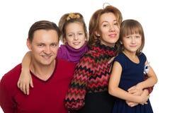 Ευτυχείς πρόγονοι με τα παιδιά Στοκ Εικόνα