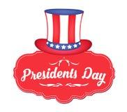 Ευτυχείς Πρόεδροι Day Greeting Banner ΑΜΕΡΙΚΑΝΙΚΟΥ θέματος Στοκ εικόνα με δικαίωμα ελεύθερης χρήσης