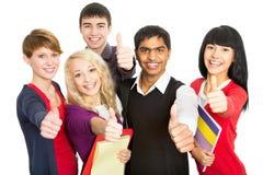 ευτυχείς σπουδαστές Στοκ εικόνα με δικαίωμα ελεύθερης χρήσης