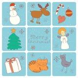 Ευτυχείς σύντροφοι Χαρούμενα Χριστούγεννας ελεύθερη απεικόνιση δικαιώματος
