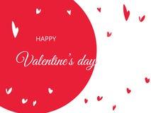 Ευτυχείς χαιρετισμοί ημέρας βαλεντίνων ` s με συρμένες τις χέρι μορφές καρδιών Στοκ εικόνες με δικαίωμα ελεύθερης χρήσης