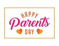 Ευτυχείς χαιρετισμοί ημέρας γονέων Στοκ Φωτογραφία