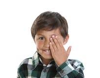 ευτυχείς χαμογελώντας νεολαίες αγοριών Στοκ φωτογραφία με δικαίωμα ελεύθερης χρήσης