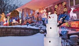 Ευτυχείς χιονάνθρωποι Στοκ εικόνες με δικαίωμα ελεύθερης χρήσης